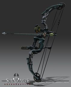 ArtStation - Savage Resurrection Weapons and Items, Bruce Glidewell Archery Gear, Archery Bows, Archery Hunting, Anime Weapons, Fantasy Weapons, Sabre Laser, Crossbow Hunting, Weapon Concept Art, Military Guns