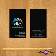 Business Card designed for Alive Properties. #businesscard #properties #estate #makemebrand
