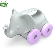 Green Toys Elephant on Wheels | Cow & Lizard toy store