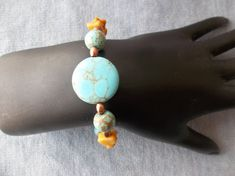 Turquoise Magnasite Yellow Jasper and Copper by ShadowoftheCross