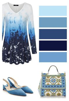Blue Tunic Tops by ppgyoo-pinky on Polyvore featuring Laksmi