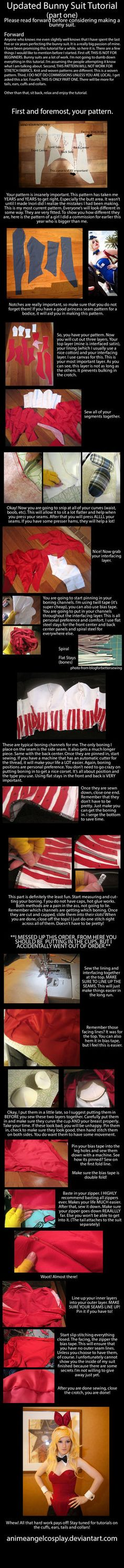 Tutorial - Bunny Suits - Part One - The Suit by *RuffleButtCosplay on deviantART