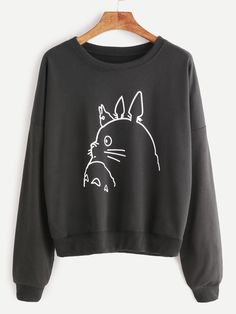 Shop Drop Shoulder Cartoon Print Sweatshirt online. SheIn offers Drop Shoulder Cartoon Print Sweatshirt & more to fit your fashionable needs.