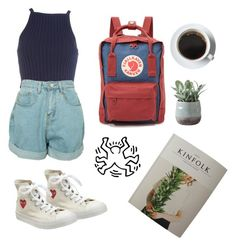 """the-casual-girl"" by mikaela-obrien on Polyvore featuring Converse, Fjällräven and Torre & Tagus"