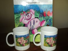 The Adventures of Pigalotoffun &   Pigalotoffun Mugs.