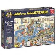 Jan van Haasteren - The Printing Office, - SpeelgoedFamilie. Office Cartoon, Cartoon Puzzle, The Avengers, 1000 Piece Jigsaw Puzzles, Iphone 8, Van, Paris, Baseball Cards, Children