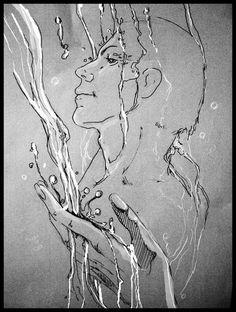 """иллюстрации к книгам Макса Фрая...""""лучше всего мне всегда думалось под водой"""""""