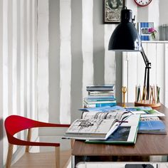 Striped home office   Decorating ideas   Image