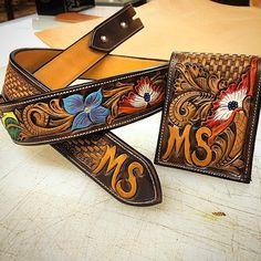 Matching belt and wallet set! #custombelt #customwallet #cdkleather