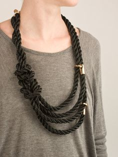 leather rope necklace // Bec Brittain