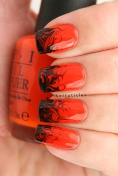 """The Polish Party theme for October is Halloween. I've never done a """"traditional"""" pumpkin, ghosts, haunted house, bats, Jack Skellington, mummies kind of manicure. And it seems that this year is no different. I was inspired by a beautiful needle [...]"""
