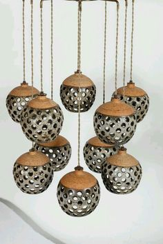 Tokenlights and Their Contemporary Light Fixtures Get inspired by these amazing designs! Raku Pottery, Pottery Sculpture, Ceramics Projects, Clay Projects, Clay Crafts, Ceramic Lantern, Ceramic Light, Ceramic Lamps, Contemporary Light Fixtures