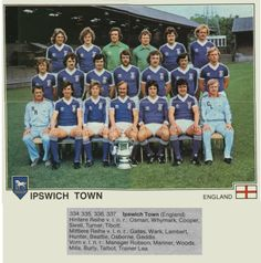 Ipswich Town 1978 FA Cup Winners Football Trading Cards