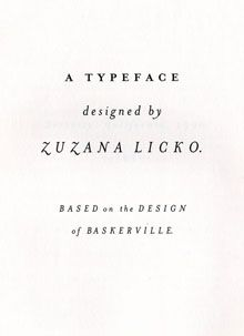 82. Mrs Eaves, Zuzana Licko (1996) — A contemporary digital interpretation of Baskerville's legendary typeface. #typography #fonts