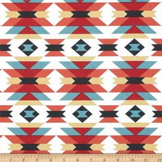Red and Blue Aztec Custom Nursery Set Changing by OrangeBlossom805