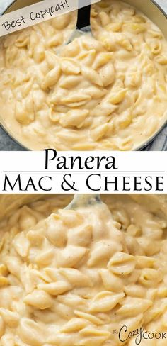 This Panera Mac and Cheese recipe is the BEST copycat! Bake it, serve it hot off the stove, or heat in the Crock Pot! This Panera Mac and Cheese recipe is the BEST copycat! Bake it, serve it hot off the stove, or heat in the Crock Pot! Stovetop Mac And Cheese, Macaroni Cheese Recipes, Mac And Cheese Homemade, Pasta Recipes, Best Mac N Cheese Recipe, Mac And Cheese From Scratch Recipe, Mac And Cheese Recipe Ricotta, Noodles Mac And Cheese Recipe, Baked Noodle Recipes