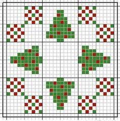 Christmas Biscornu pattern.
