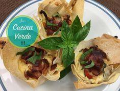 Schinken-Tomaten Muffins - Rezept von Joes Cucina Verde Muffins, Tacos, Mexican, Ethnic Recipes, Dried Tomatoes, Phyllo Dough Recipes, Muffin Recipes, Delicious Snacks, Finger Food