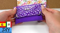 Bolsito de mano hecho con cinta adhesiva - Manualidades faciles para hac... Duck Tape, Sunglasses Case, Crafts, Youtube, Home, Duct Tape, Easy Crafts, Adhesive, Bias Tape