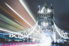 Bridge, Illuminated, Night, Tower