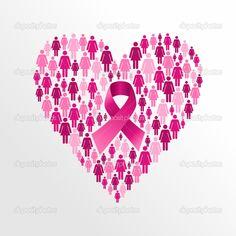 cancer de mama ribbon color rosado - Buscar con Google
