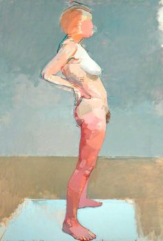 "thunderstruck9: "" Euan Uglow (British, 1932-2000), Gyroscope Nude, 1967. Oil on canvas, 146 x 102.2 cm. source """