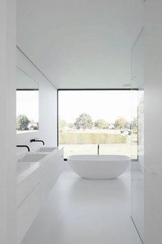 Cheap Home Decor .Cheap Home Decor Minimalist Bathroom Design, Modern Bathroom Design, Bathroom Interior Design, Modern Minimalist, Bathroom Designs, Bathroom Ideas, Bathroom Organization, Modern White Bathroom, Minimal Bathroom