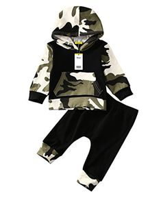 Infant Baby Boys Camouflage Hoodie Tops Long Pants Outfits Set Clothes 06 Months Camouflage >>> Read more at the image link. (This is an affiliate link) Hoodie Outfit, Legging Outfits, Camo Hoodie, Pants Outfit, Black Hoodie, Hipster Babys, Hipster Baby Clothes, Baby Boy Clothing Sets, Kids Clothing