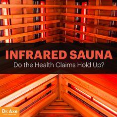 Infrared sauna - Dr. Axe #health #holistic #natural #detox