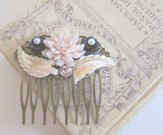 Light Pink Hair Comb Wedding Lilac Mauve Ivory Pearl Bridal Hair Accessories Flower Bridesmaids Hair Pin Romantic Soft Blush Nude Pastel