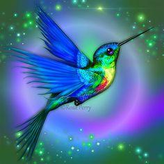 Hummingbird Blue by serafina-rose.deviantart.com on @deviantART