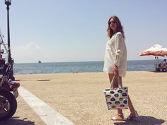 i love greece <3  shirt-zara bag-miss sixty shoes-miss sixty shorts-pull & bear bracelates-street shope sunglasses-street shope