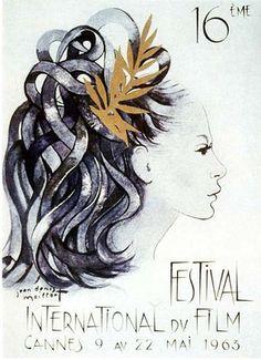 Official Festival de Cannes Poster, 1963