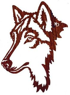 """Celebrate your own personal style with this 24"""" Night Watch (Wolf Face) Lazer Cut Metal Wall Art by Kathryn Darling"""