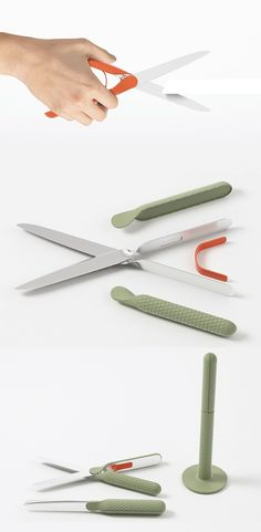 Cizorz breaks the archetypical perception of traditional-type scissors with an entirely new and innovative aesthetic and  storing solution... READ MORE at Yanko Design !