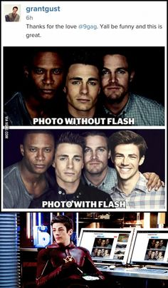 9GAG with Flash! (From Grant Gustin's Instagram)