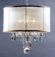 Nice way to transform a traditional chandelier...