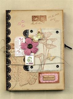 art journal cover - FD JUIN 2012 MINI ALBUM PAT