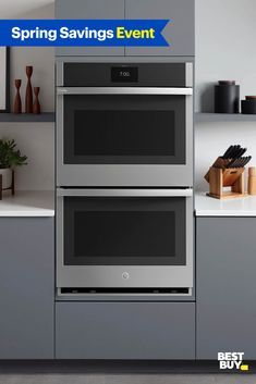 Shop for ge-wall-oven-install-offer at Best Buy. Built In Kitchen Appliances, Kitchen Appliance Packages, Buy Kitchen, Kitchen Ideas, Top Deals, April 24, Grease, Interior Design Living Room, Cool Things To Buy