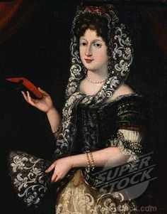 Stock Photo #4069-4906, Portrait of a lady, late 17th - early 18th century (detail)