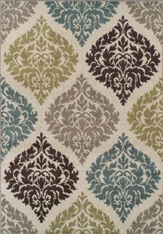 Premium Modern/Transitional Area Rug Soft Damask Carpet 8x10-8x11 Ivory Exact Size: 8ft. 2in. X 10ft.