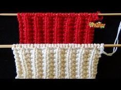 Cómo Tejer FALSO PUNTO INGLÉS # 2 REVERSIBLE - 2 Agujas (422) - YouTube Knitting Stiches, Knitting Videos, Crochet Videos, Baby Knitting, Knitting Designs, Knitting Patterns, Crochet Patterns, Tunisian Crochet, Knit Crochet