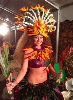 Moena Maiotui of Tahiti Ora at Heiva i Tahiti 2014