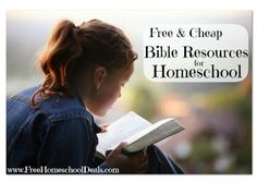 Free and Cheap Bible Resources for Homeschool | Many great items today like a free Ken Ham ebook, reduced Bible studies, free Bible printables, and a more!