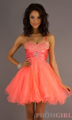 neon-coral-dress-DJ-6918-a.jpg (999×1666) DAVE AND JOHNNY SHORT STRAPLESS PROM DRESS 6918