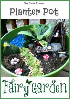 Play Create Explore: Fairy Garden in a Planter Pot