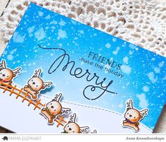 Mama Elephant Stamp Highlight: Little Reindeer Agenda @akossakovskaya @mamaelephant #cardmaking #mamaelephant