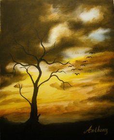 Sunset (Acrylics on Canvas)
