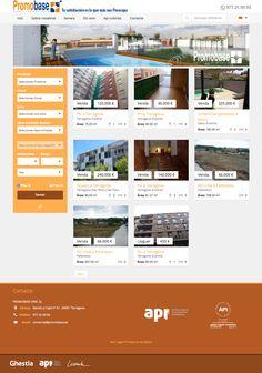 web para promobase inmobiliaria en Tarragona #web #laende #webdesign #inmobiliaria