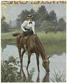 French magazine cover circa 1890